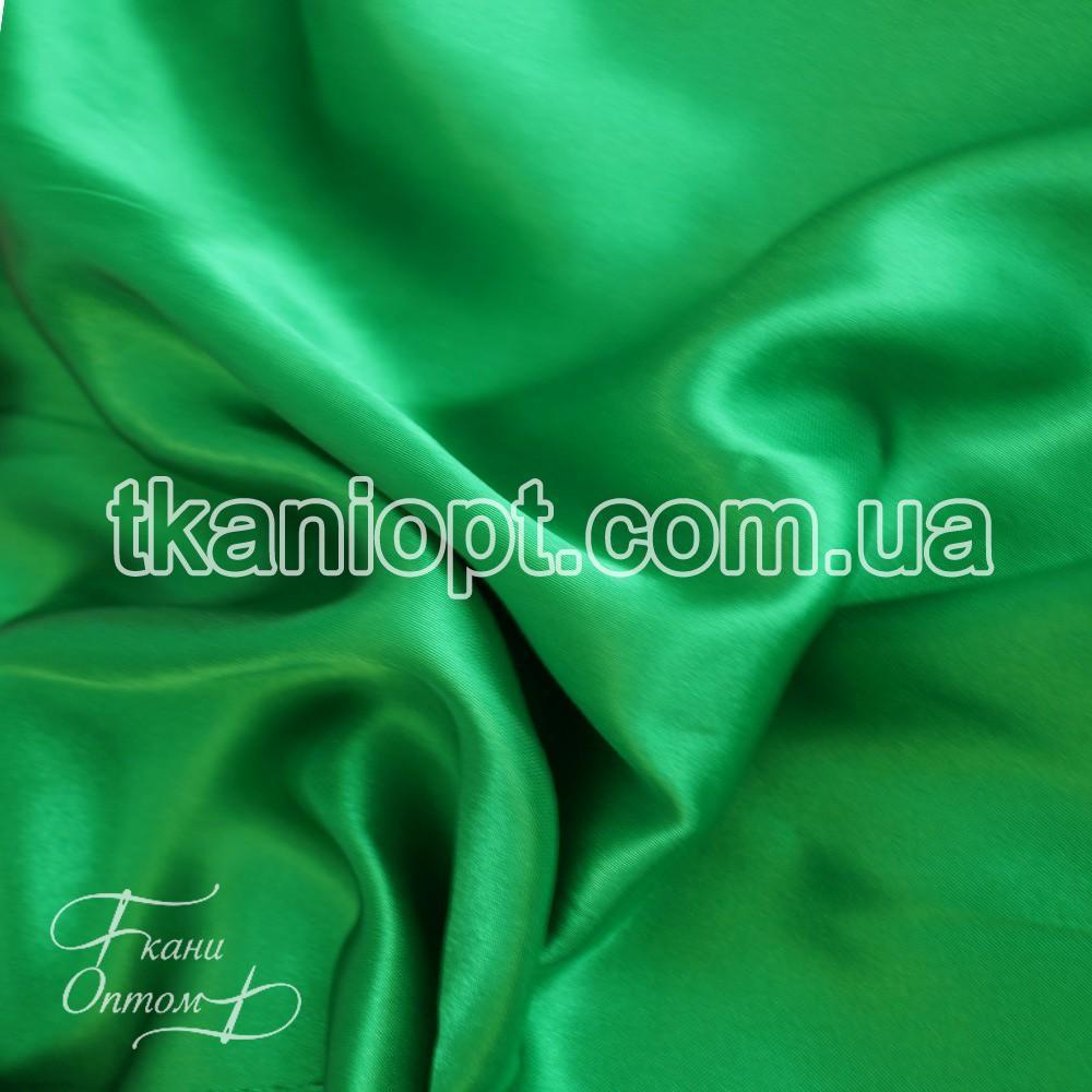 Ткань Атлас обычный трава оптом (65 gsm)