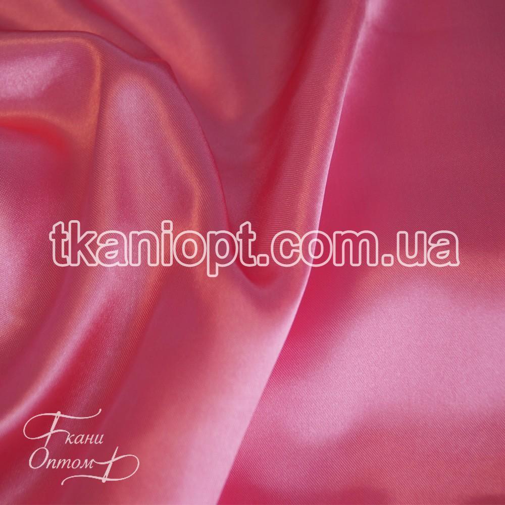 Ткань Атлас обычный ярко-розовый оптом (65 gsm)