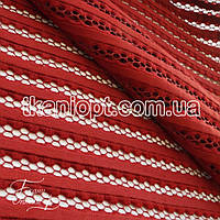 Ткань Сетка неопрен (бордовый)
