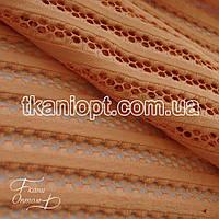 Ткань Сетка неопрен (персиковый)