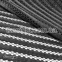 Ткань Сетка неопрен (черный)