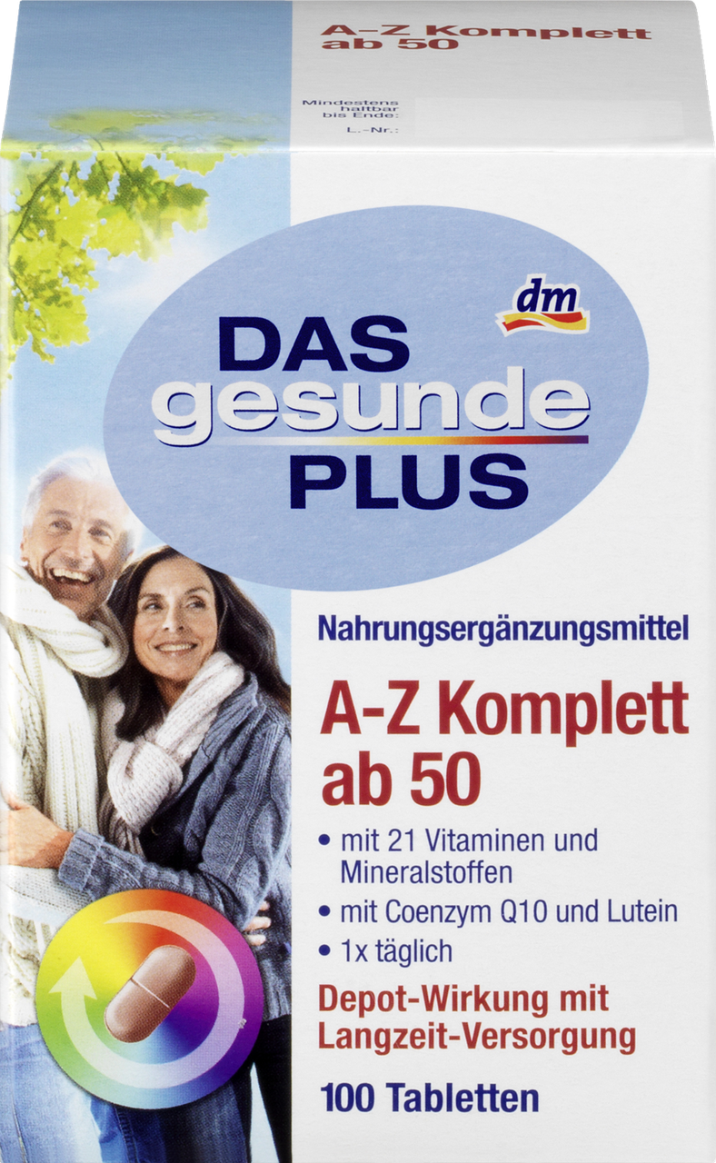 Витамины Das gesunde Plus A-Z Depot ab 50+100 tab