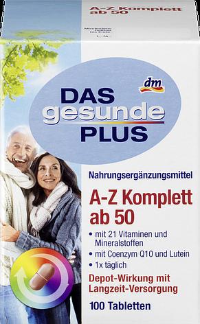 Витамины Das gesunde Plus A-Z Depot ab 50+100 tab, фото 2