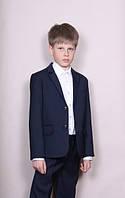 Костюм - двойка для мальчика школьный темно - синий