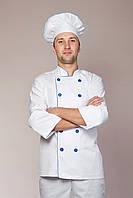 Мужской костюм повара белого цвета