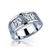 Кольцо серебряное Спаси и Сохрани К-477