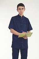 Мужской медицинский костюм темно синего цвета