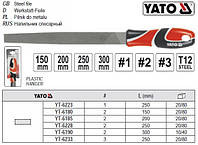 Напильник по металлу YATO Польща плоский l=150 мм #2 YT-6180