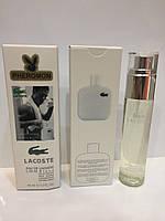 Мини парфюм мужской с феромонами Lacoste Eau De L.12.12 Blanc (Лакост Бланк) 45 мл