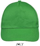 Кепки - бейсболки SOL'S BUZZ с логотипом, 5 панелей, на липучке, 10 цветов, Франция, код 88119 светло-зеленый