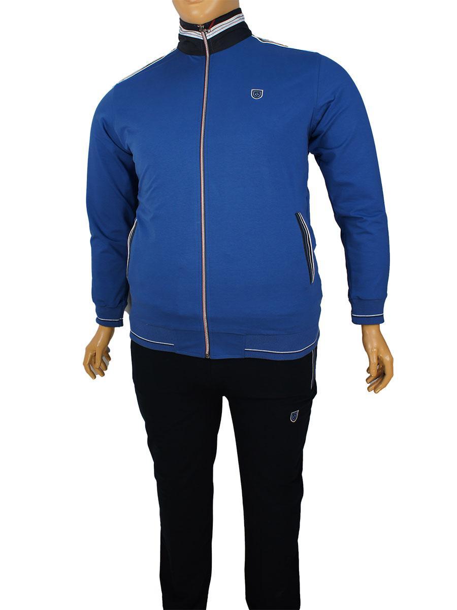 Чоловічий спортивний костюм великого розміру Fabiani 7КЕ3ЕS3809 D.Blue-D.Blue