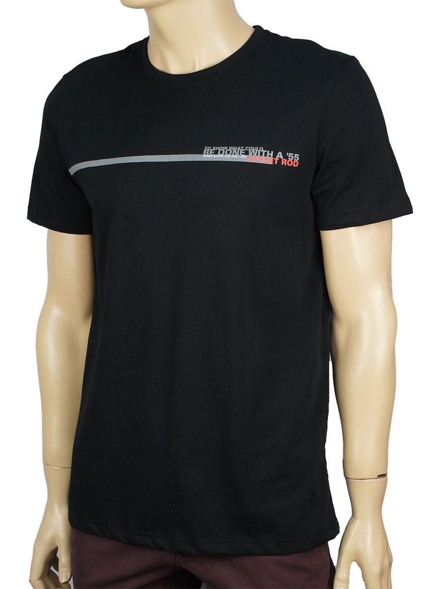 Чоловіча футболка GT 5788 чорного кольору