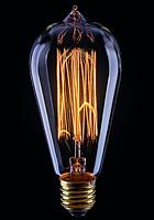 Ретро-лампа  VOLTEGA ST64 (винтажная колба) 60W E27 (янтарь нити)