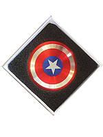 Спиннер вертушка Щит Капитана Америка антистресс Hand Spinner: металл