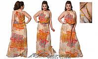 Летнее платье в пол из шифона Флоренсия (размеры 50-56)