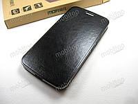 Кожаный чехол книжка MOFI Motorola Moto G5 (черный)