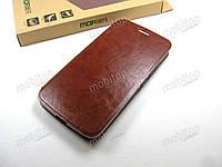 Кожаный чехол книжка MOFI Motorola Moto G5 (коричневый)