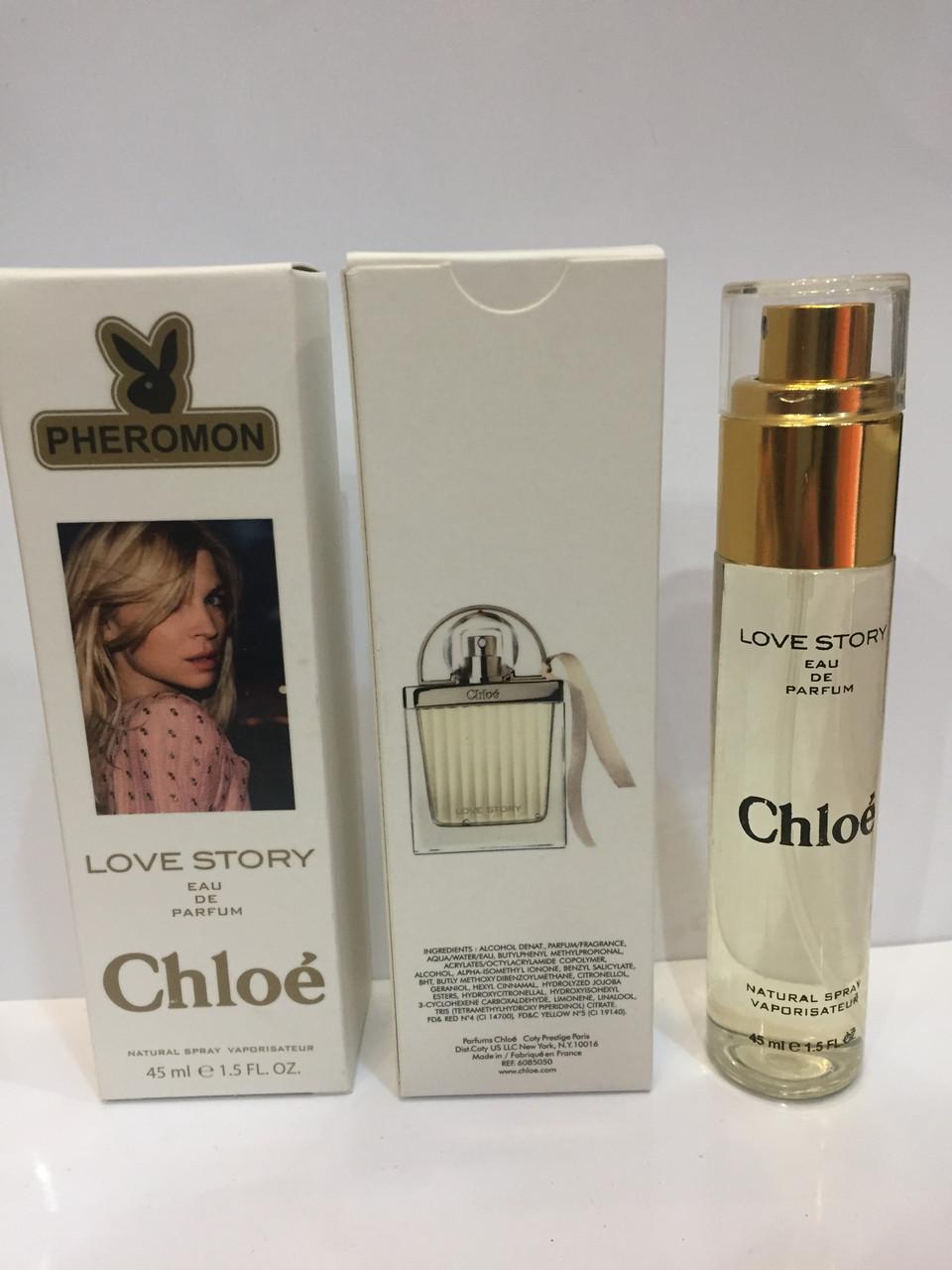 мини парфюм женский с феромонами Chloe Love Story хлое лав стори