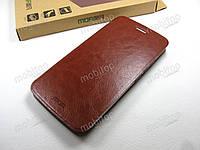 Кожаный чехол книжка MOFI Motorola Moto G5 Plus (коричневый)