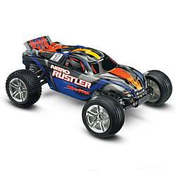 Автомобиль Traxxas Rustler 2,5 Nitro Stadium Truck 1:10 RTR 44094-1 SBL