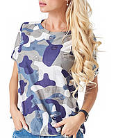 Женская футболка хаки (2137 br)