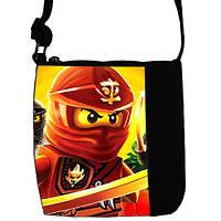 Черная сумка для мальчика Little prince с принтом Кай Ninjago