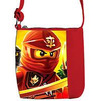 Красная сумка для мальчика Little prince с принтом Кай Ниндзяго