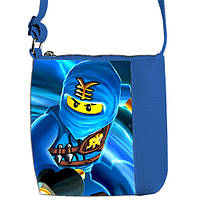 Синяя сумка для мальчика Little prince с принтом Ниндзяго