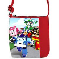 Красная сумка для мальчика Little prince Робокар Поли