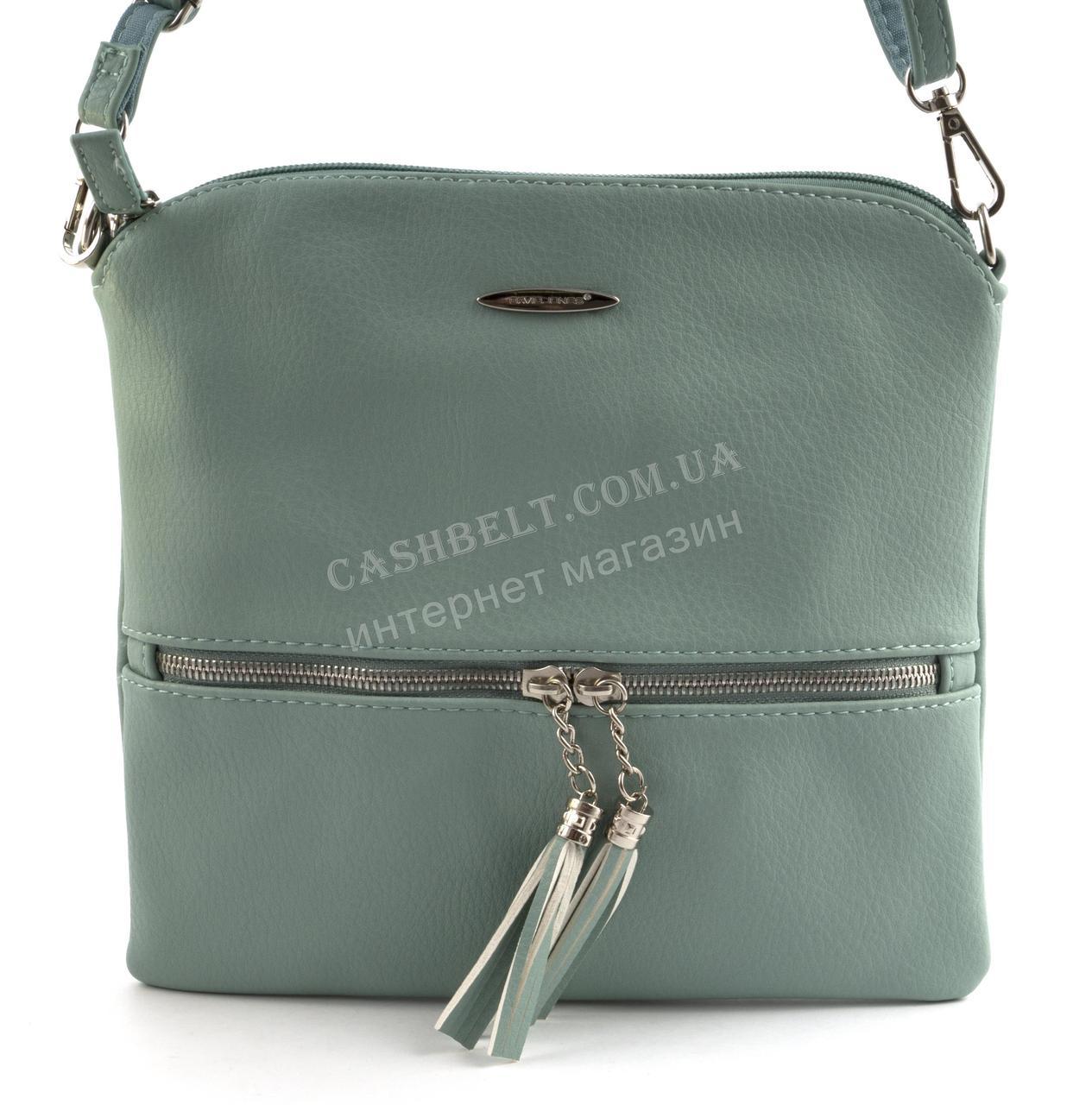 76a65a984a0c Оригинальный небольшая стильная женская сумка почтальонка DAVID JONES art.  CM3461 бирюзовая