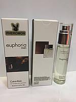 Мини парфюм мужской с феромонами Calvin Klein Euphoria Men (Кельвин Кляйн Эйфория Мен) 45 мл