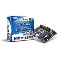 Б/У Материнская плата MSI H61M-E33 (B3) (s1155, Intel H61, PCI-E 2.0x16)