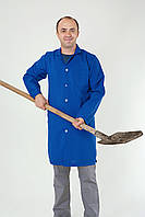 Халат медицинский мужской синий