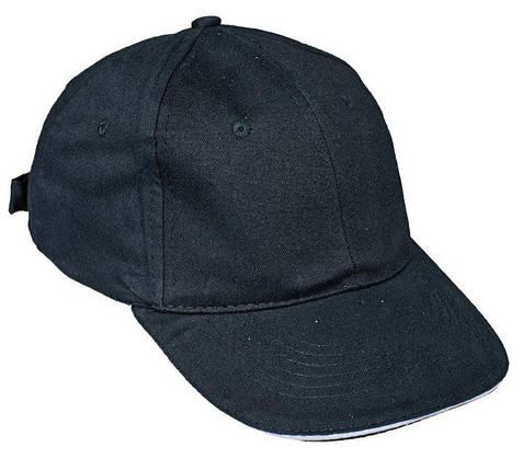 Кепка (бейсболка) хлопок Tulle 100% Сotton черная, фото 2