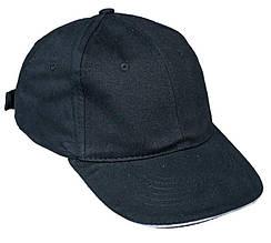 Кепка (бейсболка) хлопок Tulle 100% Сotton черная