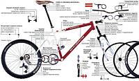 Комплексные работы с велосипедом