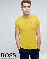 Футболка Поло Boss | Желтая тенниска Босс