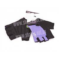 Перчатки X17 XGL-525PU фиолетово-чёрные