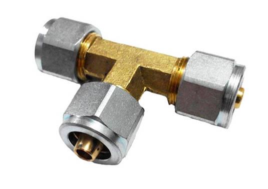 Тройник d6xd6xd6 мм для термопластиковой трубки