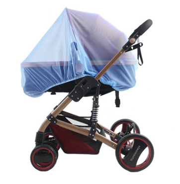 Москитная сетка на коляску универсальная Голубая