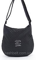 Черная женская стеганая сумка  под спорт с надписью art. 22, фото 1