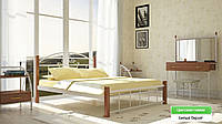 Металлическая кровать (дерево ножки) Кассандра Металл-дизайн