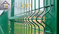 Секционная 3Д ограда 1,26 м х 2,5 м забор с полимерным покрытием, 3х4 мм еко стандарт