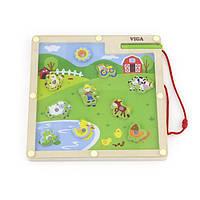 """Игра Viga Toys """"Ферма"""" (50193), настольные игры для детей"""