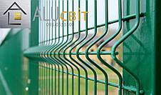 Секционная 3Д ограда 1,5 м х 2,5 м забор с полимерным покрытием, 3х4 мм еко стандарт