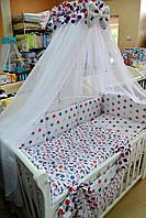 Балдахин в детскую кроватку 120/60 (в морском стиле)