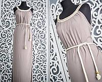 """Нежное женское платье """"штапель"""" на горловине цепочка, поясочек в комплекте 44, 46, 48, 50 размер норма и батал"""