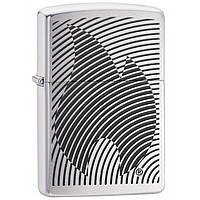 Зажигалка Zippo 29429 Illusion Flame Stripes Brushed Chrome серая 29429, фото 1