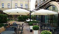 """Уличные консольные зонты """"DOUBLE XL"""" 6х3м для летних открытых площадок"""