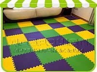 Модульное напольное покрытие для детской комнаты, 12 элементов